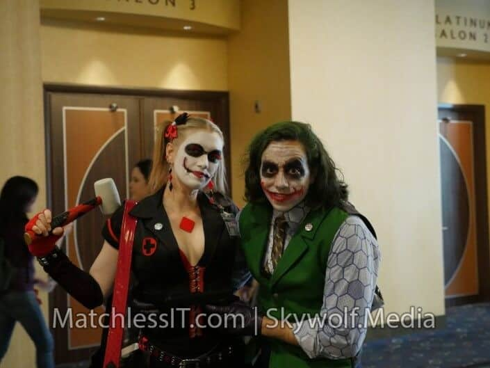 Harley and Joker again. This Harley left the whore suit at home.