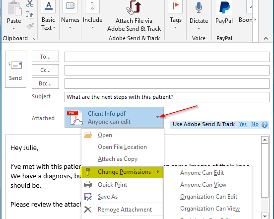 How To Upload from Outlook Step 3